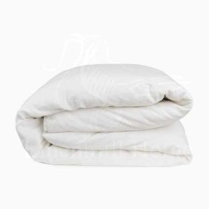 148х220 Белый льняной пододеяльник Natural Linen