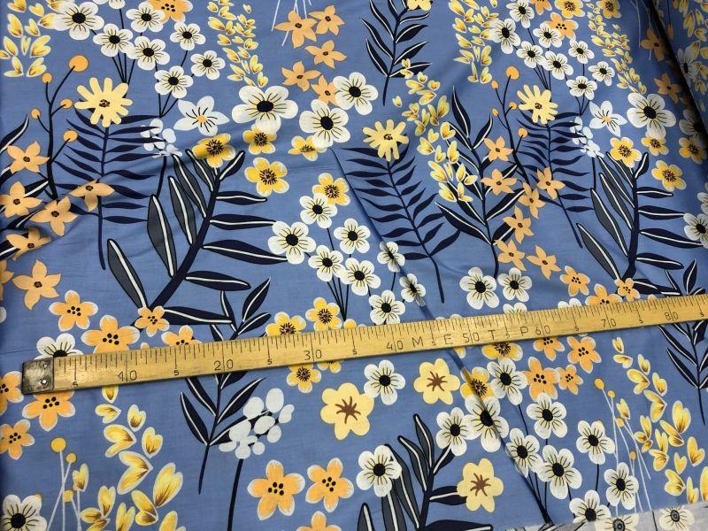 235 см. Ткань для постельного белья сатин Весенние цветы