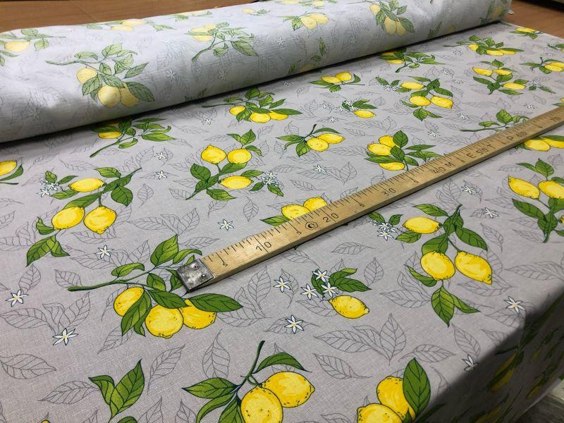 150 см. Ткань с печатным рисунком лимонов Don Lemon