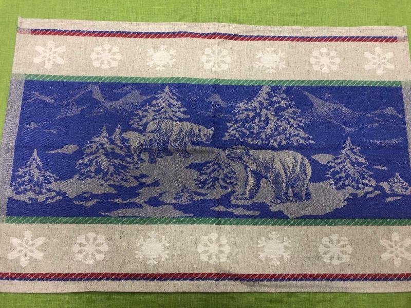 46х70 Новогоднее полотенце Шале blue