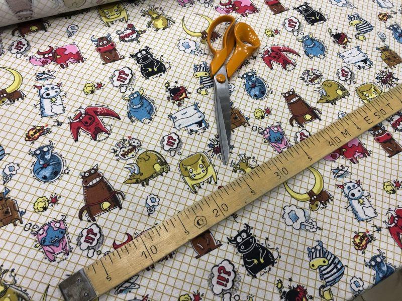 150 см. Ткань для постельного белья Крутые Быки