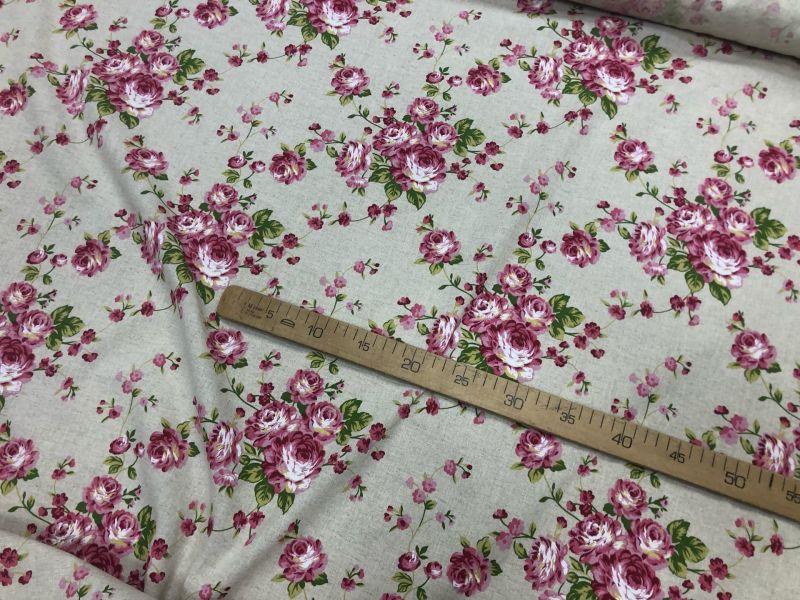 150 см. Ткань в розовый цветочек 150 г/м
