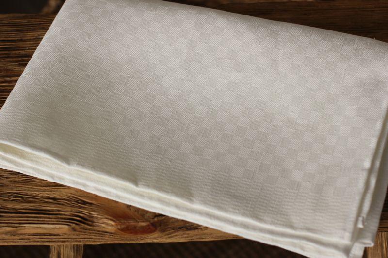 50х150 Большое льняное белое полотенце Бонн
