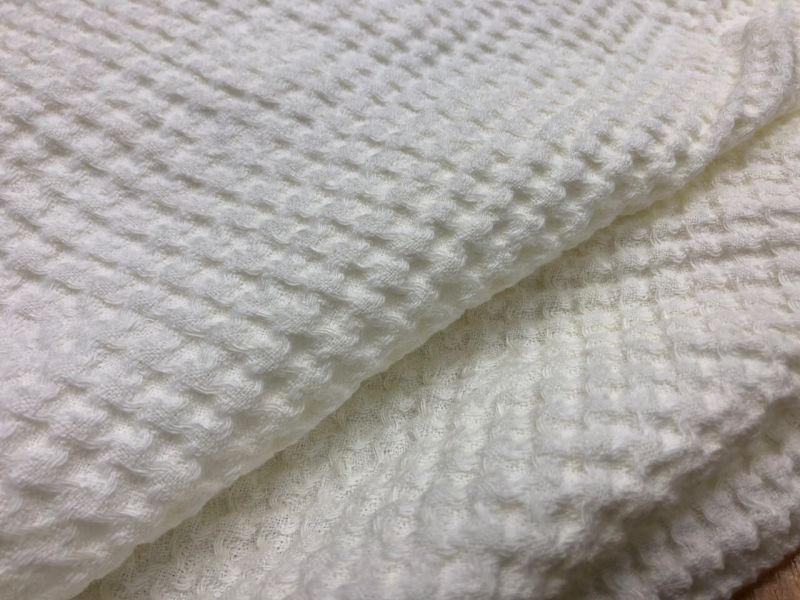 200 см. Льняная вафельная ткань Лукум