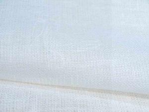 150 см. Декоративная льняная ткань редкого плетения