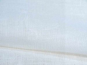 Декоративная льняная ткань редкого плетения