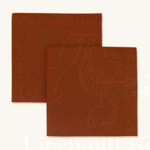 Столовая льняная салфетка цвета охра