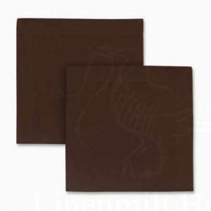 Столовая льняная салфетка коричневая