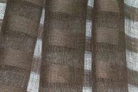 Широкий льняной тюль (вуаль) шоколад 260 см.