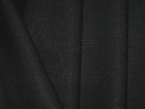Ткань полулён черного цвета