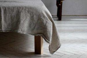 """220х160 Мягкая льняная простынь """"Soft linen"""""""