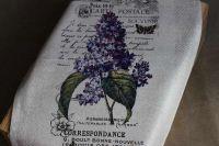 """Кухонное полотенце """"Прованс Purple"""""""