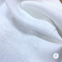 Оптически белый умягчённый плотный лён
