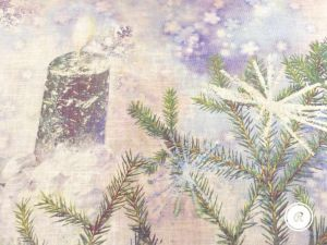 "Новогоднее полотенце ""Свеча"""